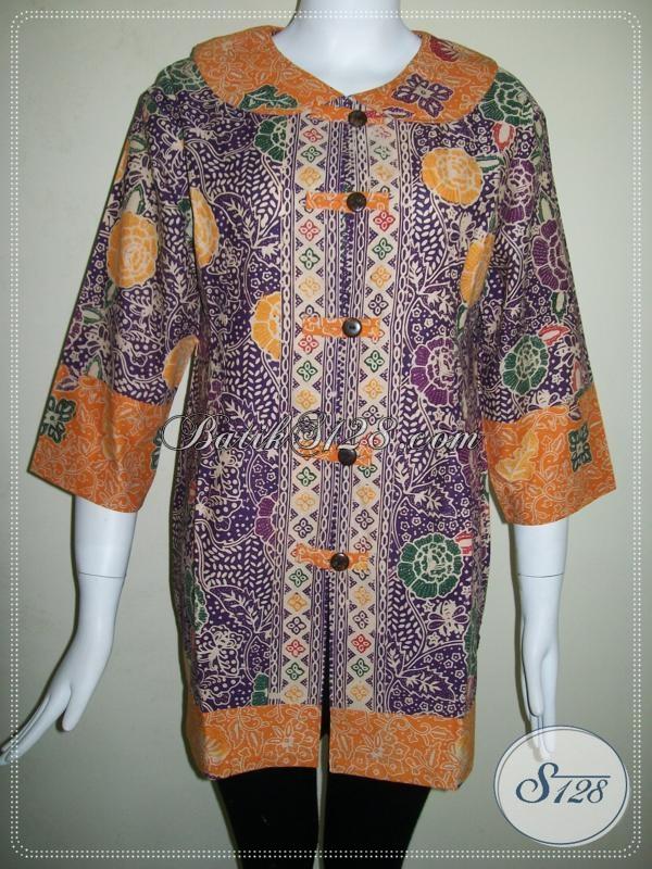 BAtik Dua Warna Untuk Blus Kerja Wanita Trendy [BLS623CL]