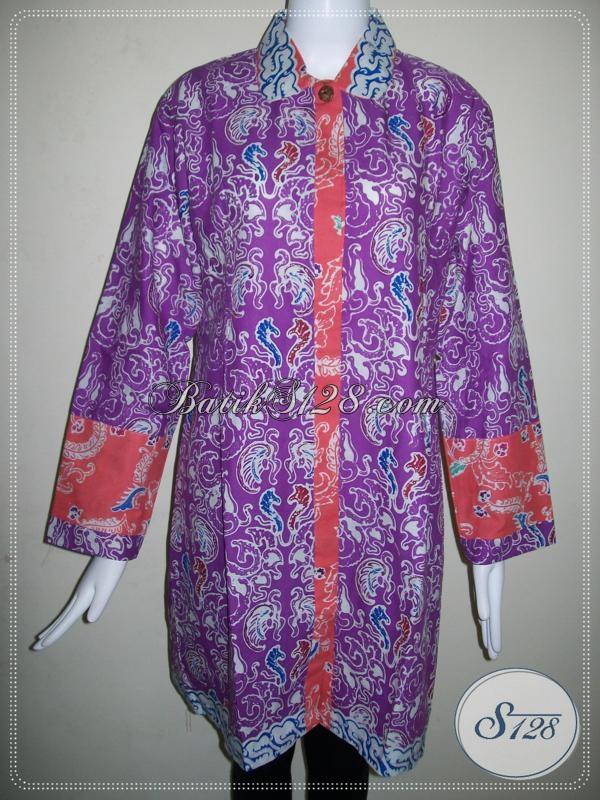 Baju BAtik Wanita Warna Ungu [BLS626C]