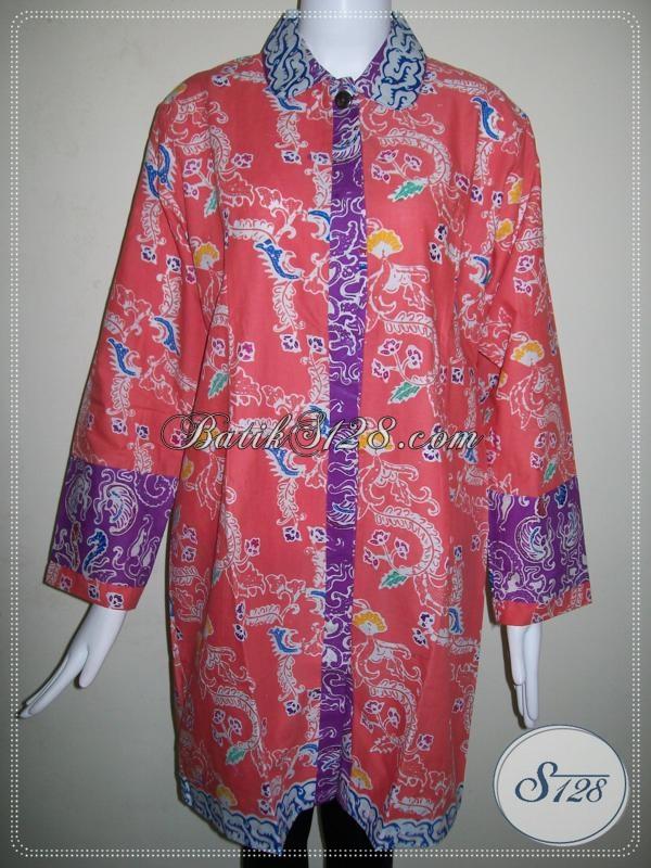 Blus Wanita BAtikWarna Pink [BLS627C]