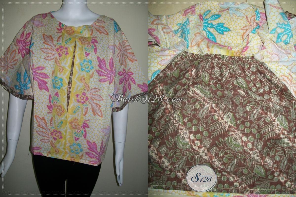 Batik Remaja Masa Kini Warna Motif Kuning Cerah Dan Elegan [BLS630P-M]