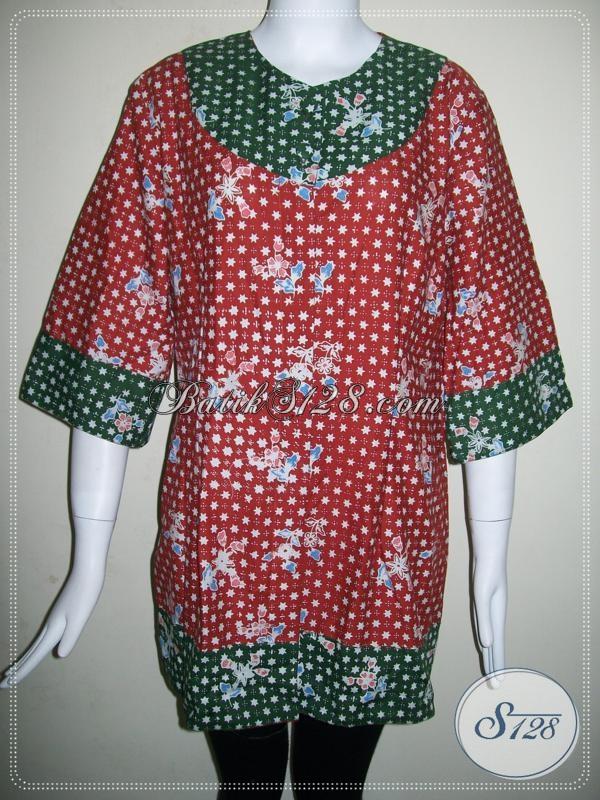 Baju Batik Wanita Ukuran Xxl Jumbo Besar Big Size Bls639c