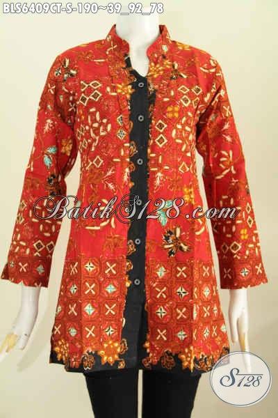 Jual Baju Batik Kwalitas Premium Blus Batik Solo Lengan