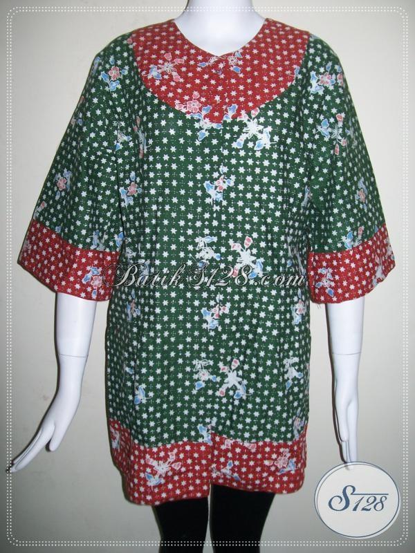 Blus Batik Jumbo XXL Besar Ukuran Big Size [BLS640C-XXL]