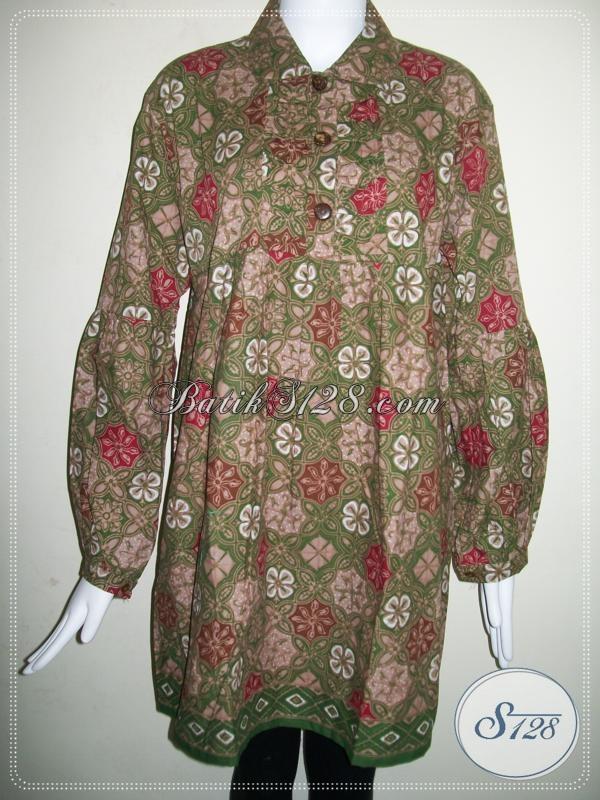 Baju Batik Wanita Ukuran XXL Jumbo Big Size Besar Terbaru  BLS644CT-XXL  f8ac4a8727