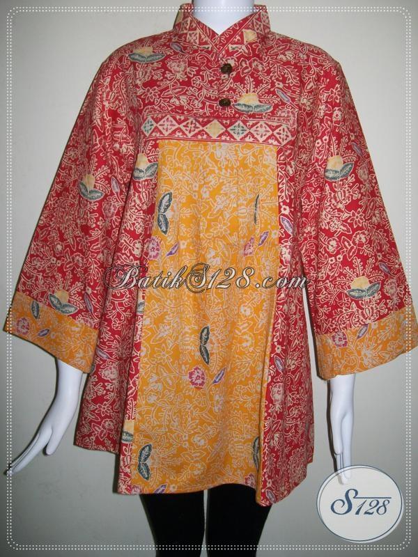 Blus Batik Trendy Untuk Wanita Elegan Dan Modern [BLS650CT-XL]