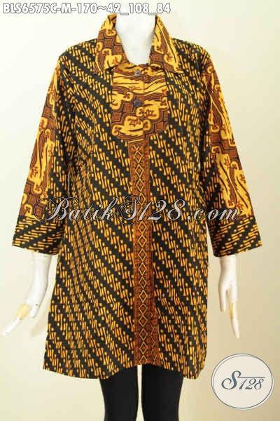 Model kombinasi batik klasik, parang