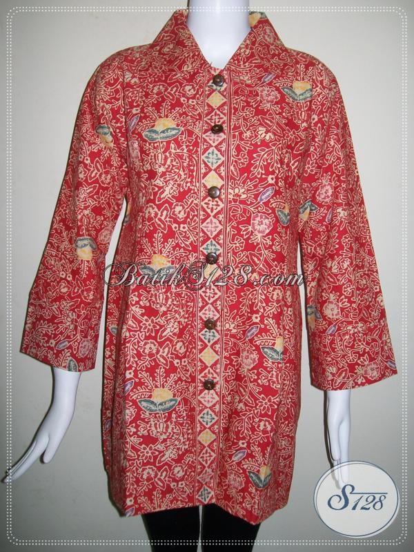 Model Baju Batik Wanita Gemuk,Model Trendy Dan Elegan [BLS659CT-XLXXL]
