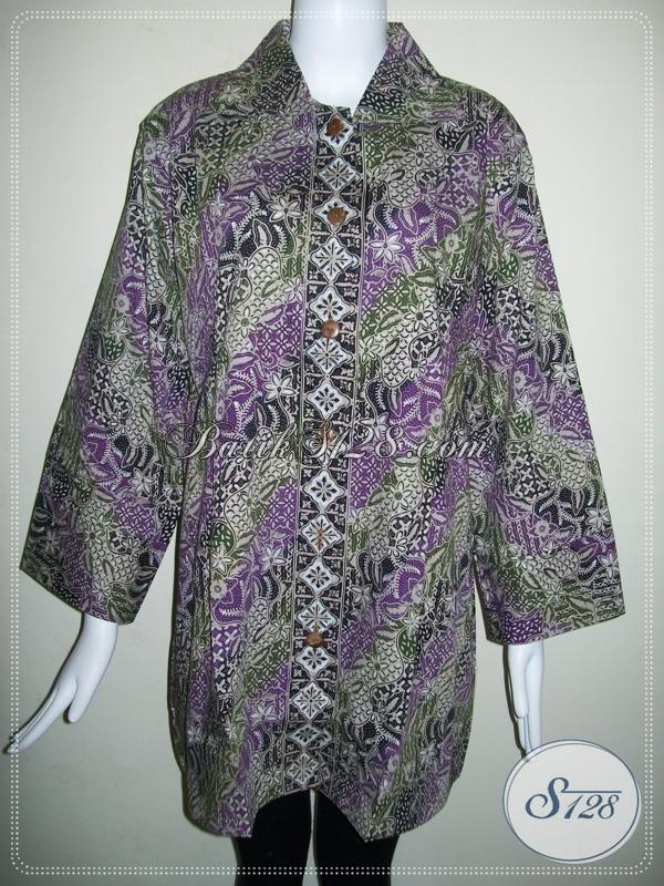 Model Baju Batik Untuk Wanita Gemuk Terbaru