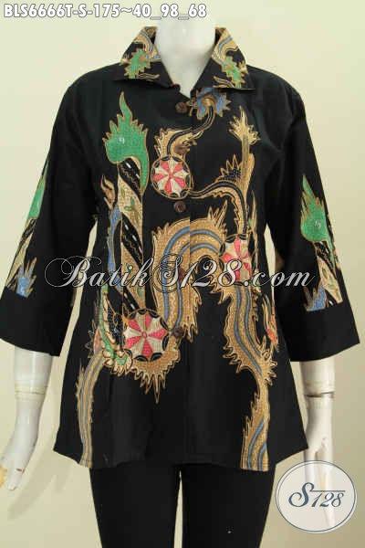 Produk Baju Batik Solo Nan Berkelas, Baju Batik Kwalitas Halus Proses Tulis Motif Trendy Untuk Santai Dan Resmi [BLS6666T-S]