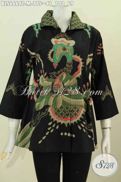 Baju Batik Tulis Terkini, Pakaian Batik Wanita Muda Kwalitas Istimewa Untuk Penampilan Lebih Anggun Dan Mempesona [BLS6668T-M]