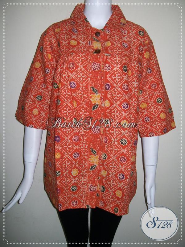 Model Baju BAtik Wanita Lengan Tiga Perempat [BLS667CT]