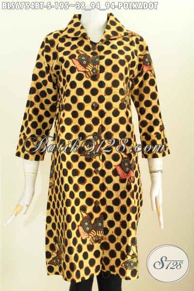 Baju Atasan Wanita Bahan Batik Motif Polkadot, Blus Batik Elegan Dan Trendy Proses Kombinasi Tulis Di Jual Online Harga 195K [BLS6754BT-S]