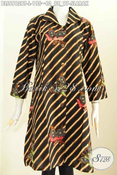 Jual Pakaian Batik Motif Slarak Online, Baju Batik Atasan Wanita Terbaru Kwalitas Bagus Tampil Lebih Menawan [BLS6762BT-L]