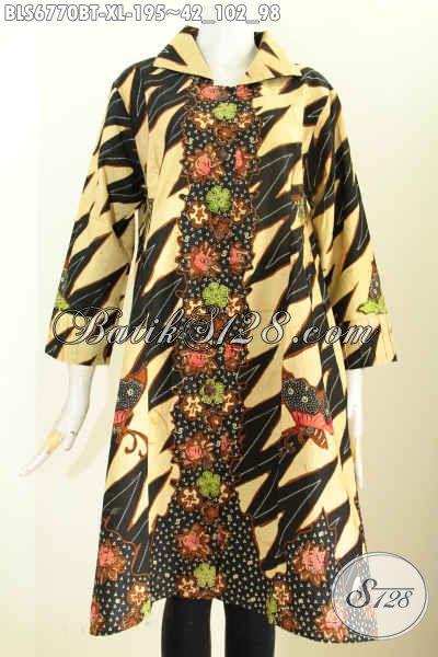 Jual Online Pakaian Batik Istimewa Untuk Kerja Dan Acara Resmi, Busana Batik Kerja Wanita Harga Murmer Kwalitas Bagus Dari Solo Asli [BLS6770BT-XL]