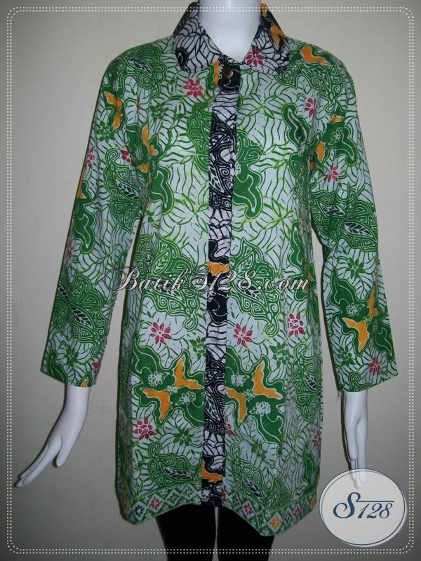 Baju Batik Lengan Panjang Untuk Wanita Kerja Kantor [BLS678CB-S]