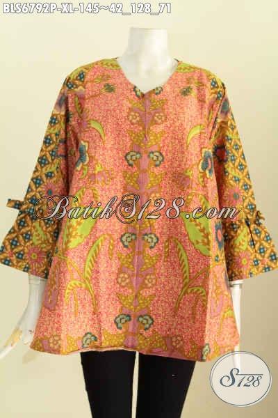 Busana Batik Perempuan Dewasa Blus Batik Model Terbaru