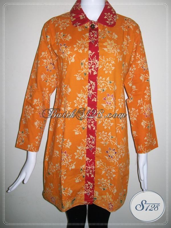 Baju BAtik Lengan Panjang Perempuan Karir [BLS681CT]