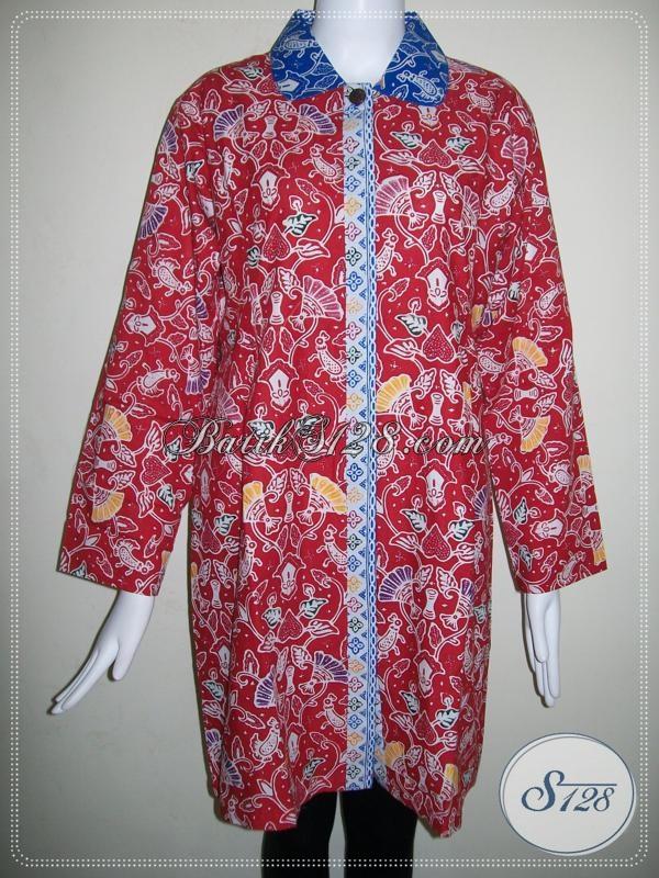 Toko Online Baju Batik Murah Untuk Wanita,Toko Online Batik Fashionable [BLS687C-XL]