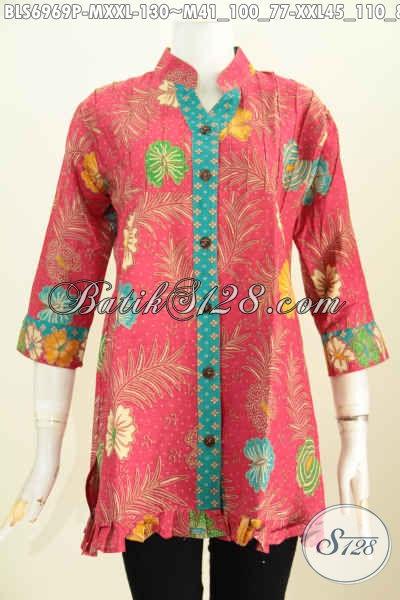 Koleksi Baju Batik Atasan Wanita Trend Mode 2019 Blus Batik