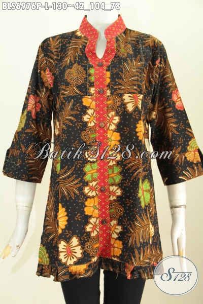 Model Baju Batik Atasan Wanita Pakaian Batik Solo Lengan