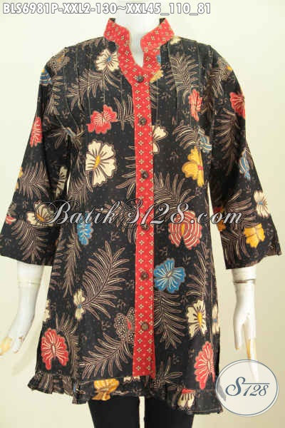 Baju Blus Modis Yang Cocok Untuk Seragam Kerja Dan Pakaian Santai, Bahan Halus Model Lengan 3/4 Ofneisel Rempel Harga 130K, Size XXL