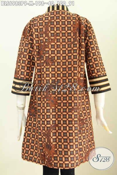 Model Baju Batik Atasan Wanita Kantor Hadir Dengan Model Terusan
