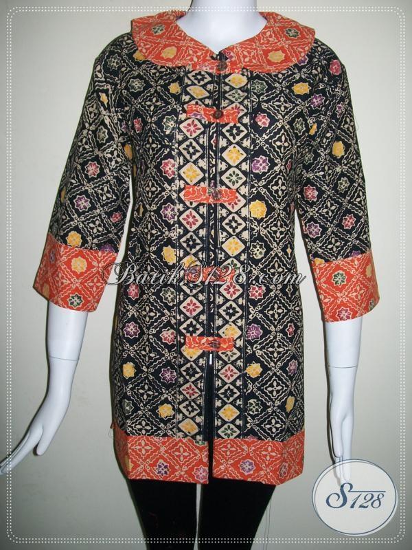 Baju Batik Wanita Model Krah Untuk Pekerja Kantor [BLS698CT-XL]
