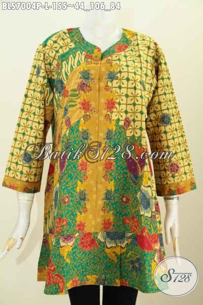 Model Baju Batik Kantor Wanita Kombinasi Pakaian Batik Trendy
