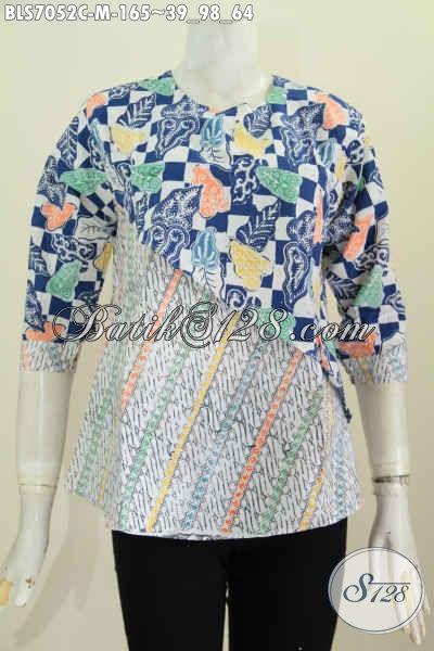 Jual Online Pakaian Batik Wanita Modern Kwalitas Bagus Bahan Adem Nyaman Dan Keren Di Pakai, Size M