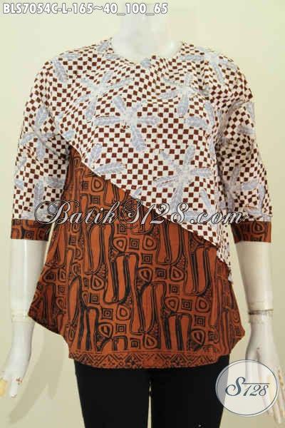 Baju Batik Wanita Kombinasi 2 Motif Dan Warna Blus Batik Model