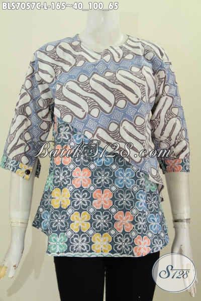 Olshop Batik Wanita Pilihan Komplit Dan Up To Date, Sedia Blus Model Silang Kwalitas Bagus Proses Cap Harga 165 Ribu, Size L