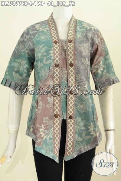 Pakaian Batik Wanita Terbaru, Hadir Dengan Desain Seksi Kutubaru, Produk Busana Batik Berkelas Bahan Kwalitas Premium Harga 190K, Size L