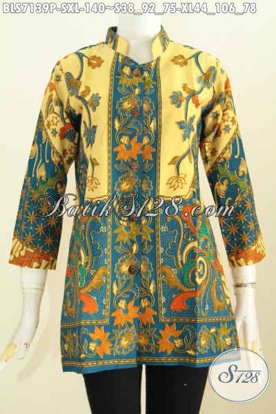 Produk Pakaian Batik Solo Terkini Blus Batik Elegan Motif Sinaran