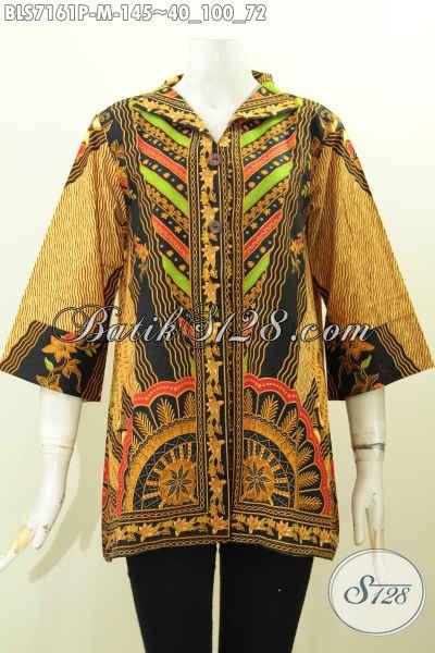 Baju Batik Wanita Buat Kerja Blus Batik Elegan Dan Modis Model