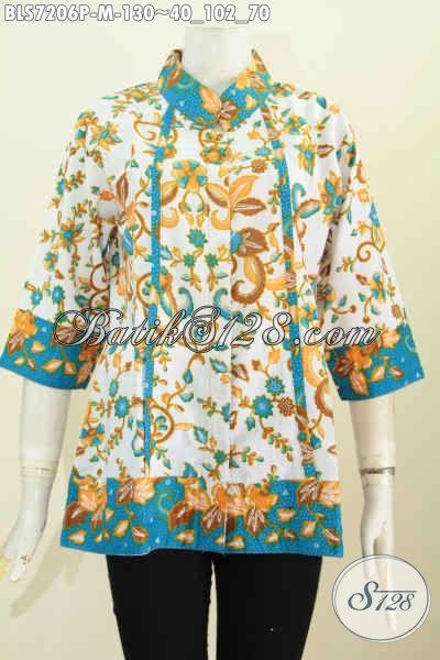 Jual Baju Batik Solo Istimewa, Pakaian Batik Halus Kwalitas Istimewa Proses Printing Untuk Perempuan Gemuk XXL