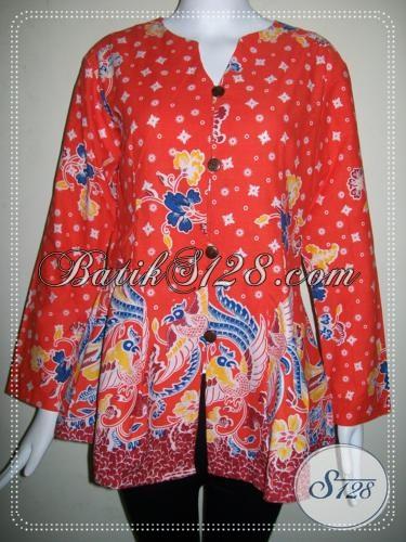 Baju Batik Lengan Panjang Untuk Wanita Pegawai [BLS725P-S]