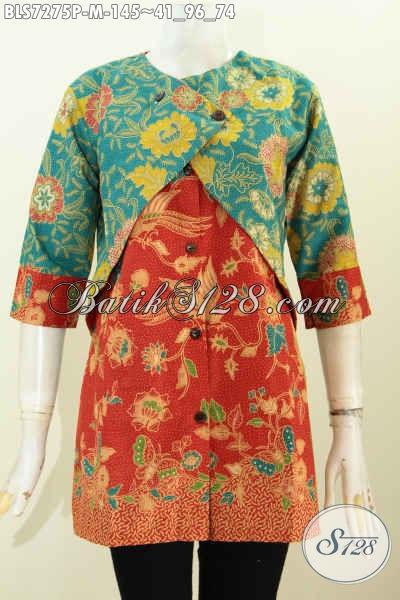 Model Blus Batik Model Rompi untuk remaja putri dan mama muda fashinable