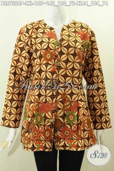 Model Baju Batik Atasan Wanita Lengan Panjang Terbaru Toko Batik