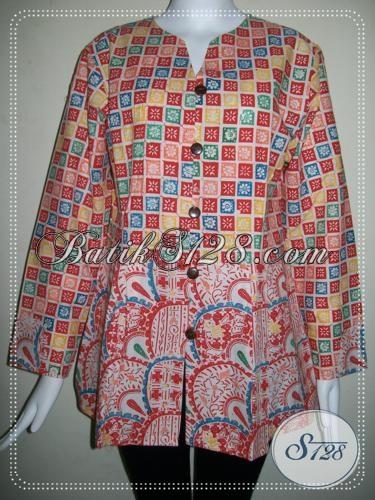 Blouse Batik Wanita Model Terlaris Di Sepanjang Tahun 2013 [BLS732C-L]