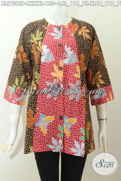 Produk Busana Batik Solo Masa Kini, Pakaian Batik Jawa Tengah Halus Modis Kwalitas Istimewa Hanya 130K, Size L