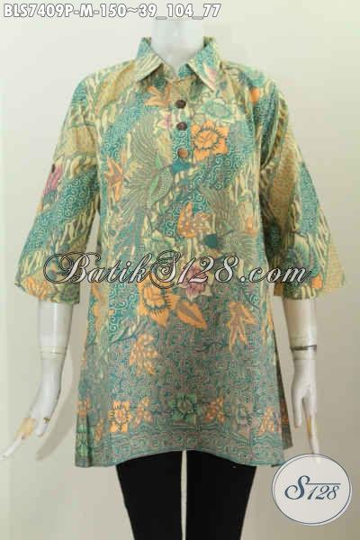 Sedia Pakaian Batik Jawa Etnik, Blus Batik Kancing Depan Kerah Lancip, Bikin Penampilan Lebih Istimewa [BLS7409P-M]
