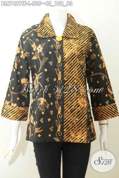 Jual Baju Batik Jawa Etnik, Blus Batik Solo Jawa Tengah Nan Istimewa Untuk Penampilan Lebih Sempurna, Size L