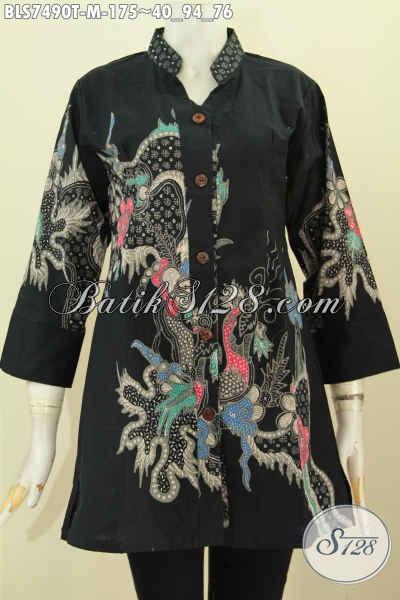 Baju Batik Shasi Elegan Dan Keren, Baju Batik Tulis Halus Harga Hanya 100 Ribuan Dengan Kerah Shanghai Dan Kancing Depan, Size M