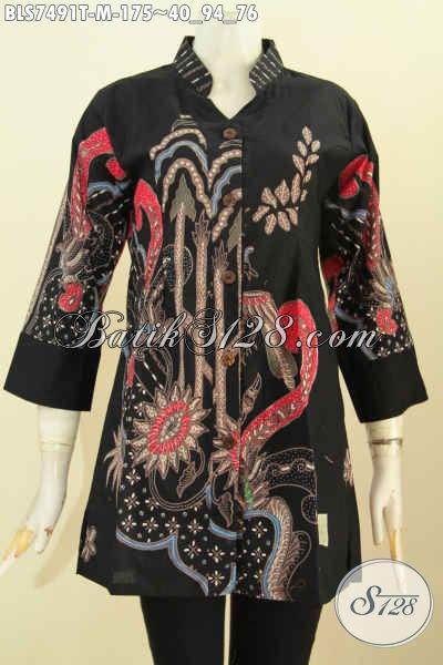 Blus Batik Murmer Proses Tulis, Busana Batik Sashi Wanita Muda Motif Keren Harga 175K [BLS7491T-M]