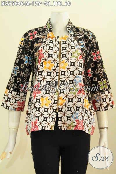 Sedia Batik Blus Ayus Keren Trendy Bahan Adem Motif Unik Proses Cap Hanya 175K, Size M