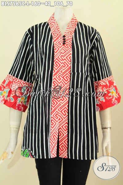 Baju Blus Keren Buatan Solo, Baju Batik Kenzi Kwalitas Istimewa Pakai Kancing Banyak Harga 160 Ribu, Size L