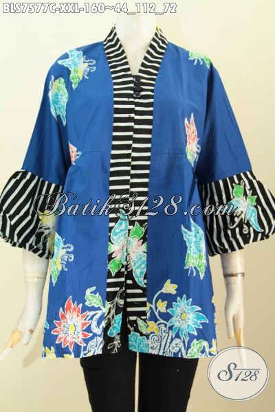 Contoh Model Baju Atasan Batik Wanita Gemuk