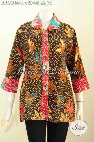 Pusat Baju Batik Wanita 2017, Produk Baju Batik Keren Jawa Tengah Untuk Wanita Tampil Gaya Dan Mempesona, Size L