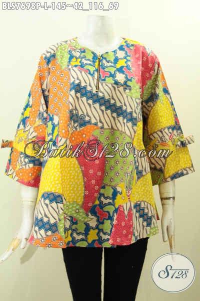 Pakaian Batik Solo Jawa Tengah Nan Istimewa, Busana Batik Solo Berkelas Motif Unik Penampilan Lebih Cantik, Size L
