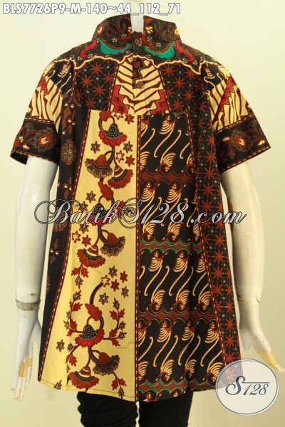 Baju Batik Wanita Masa Kini, Hadir Dengan Desain ELegan Mewah Berkelas Proses Printing Motif Klasi Harga 140 Ribu Saja [BLS7726P-M]